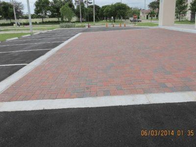 Brick Ashalt Parking Lot